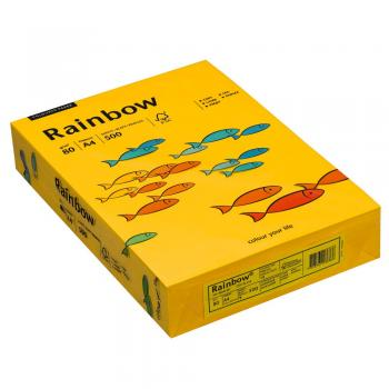 Rainbow Kopierpapier COLOURED PAPER intensivgelb A4 80 g/qm